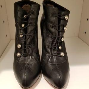 Christian Louboutin black bootie pumps